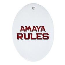 amaya rules Oval Ornament