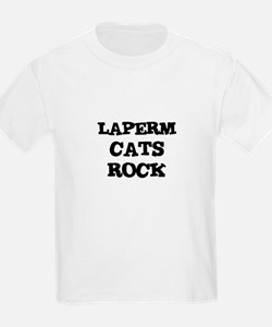 LAPERM CATS ROCK Kids T-Shirt