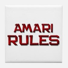 amari rules Tile Coaster