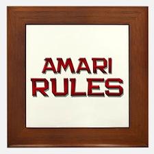 amari rules Framed Tile