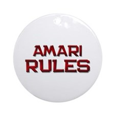 amari rules Ornament (Round)