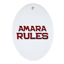 amara rules Oval Ornament