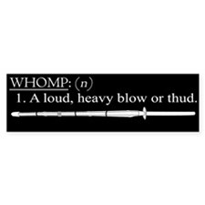 Whomp definition Bumper Bumper Sticker