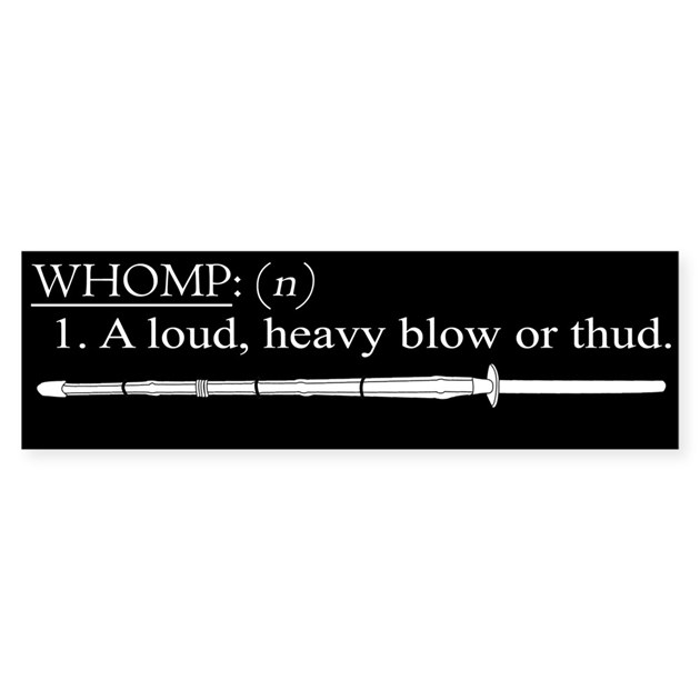 Whomp definition bumper bumper sticker by dpft for Stickers definition