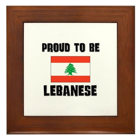 Proud To Be LEBANESE Framed Tile