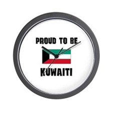 Proud To Be KUWAITI Wall Clock
