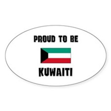 Proud To Be KUWAITI Oval Decal