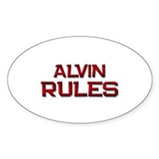 alvin rules Oval Decal