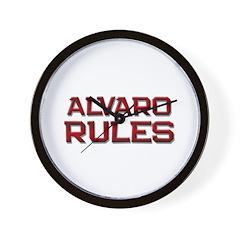 alvaro rules Wall Clock
