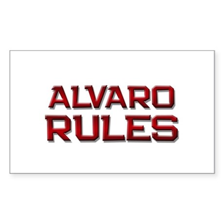 alvaro rules Rectangle Sticker