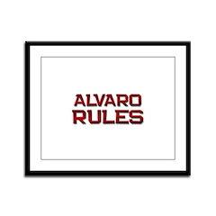 alvaro rules Framed Panel Print