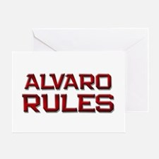 alvaro rules Greeting Card