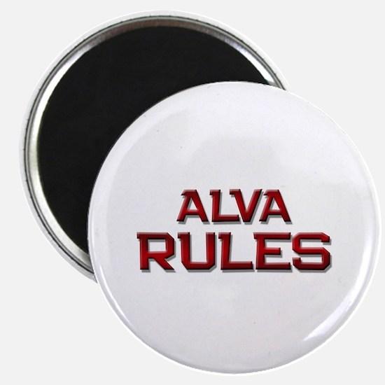 alva rules Magnet