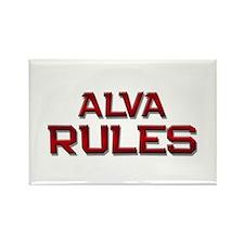 alva rules Rectangle Magnet