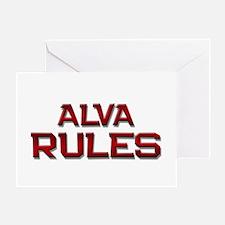 alva rules Greeting Card