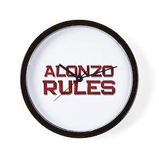 alonzo rules Wall Clock