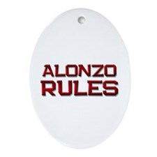 alonzo rules Oval Ornament