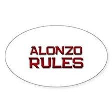 alonzo rules Oval Decal