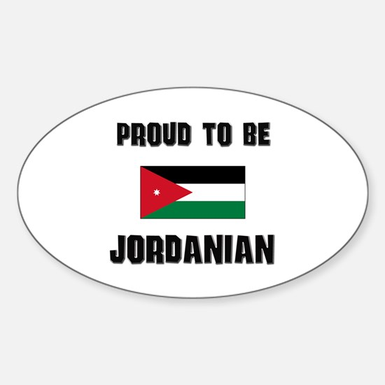 Proud To Be JORDANIAN Oval Decal