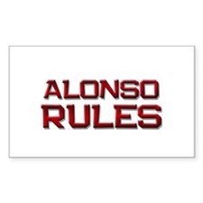 alonso rules Rectangle Decal