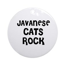JAVANESE CATS ROCK Ornament (Round)