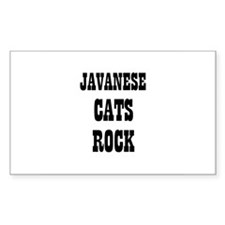 JAVANESE CATS ROCK Rectangle Decal