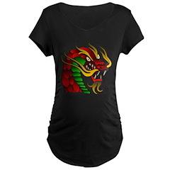 Chinese Dragon Maternity Dark T-Shirt