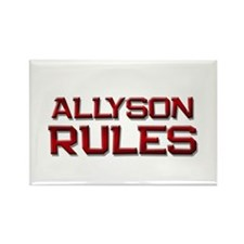 allyson rules Rectangle Magnet