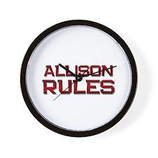 allison rules Wall Clock