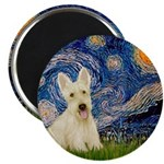 Starry Night / Scottie (w) Magnet