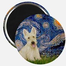 Starry Night / Scottie (w) Magnet