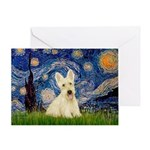 Starry Night / Scottie (w) Greeting Card