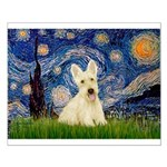 Starry Night / Scottie (w) Small Poster