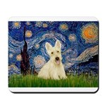 Starry Night / Scottie (w) Mousepad