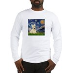 Starry Night / Scottie (w) Long Sleeve T-Shirt