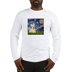 Starry Night / Scottie (w) Long Sleeve T-Shirt