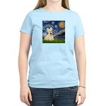 Starry Night / Scottie (w) Women's Light T-Shirt