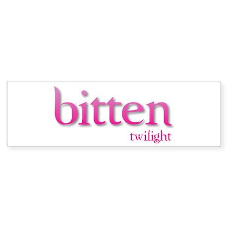 Twilight Bitten Bumper Sticker