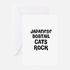 JAPANESE BOBTAIL CATS ROCK Greeting Cards (Package