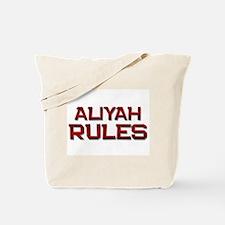 aliyah rules Tote Bag