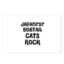 JAPANESE BOBTAIL CATS ROCK Postcards (Package of 8