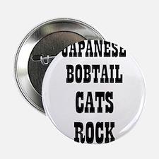 "JAPANESE BOBTAIL CATS ROCK 2.25"" Button (10 pack)"