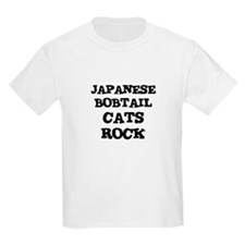 JAPANESE BOBTAIL CATS ROCK Kids T-Shirt