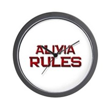 alivia rules Wall Clock