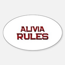 alivia rules Oval Decal