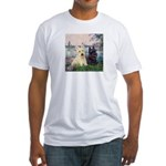 Seine / Scotties (b&w) Fitted T-Shirt