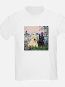 Seine / Scotties (b&w) T-Shirt