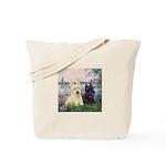 Seine / Scotties (b&w) Tote Bag