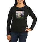 Seine / Scotties (b&w) Women's Long Sleeve Dark T-