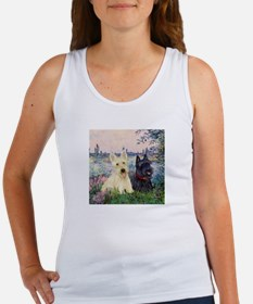 Seine / Scotties (b&w) Women's Tank Top